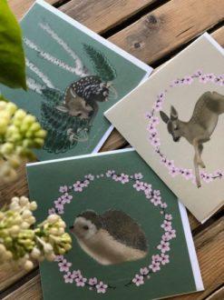 Pakketilbud med 10 vårkort av Åsne Valland Nordli